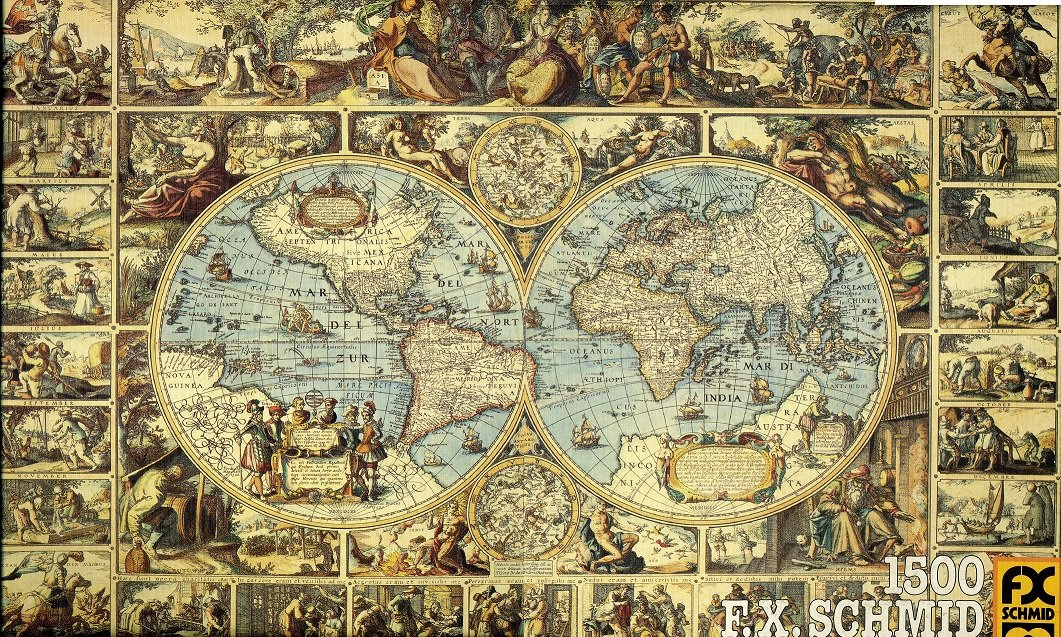 Amazon fx schmid puzzle 1500 piece puzzle antique world amazon fx schmid puzzle 1500 piece puzzle antique world map toys games gumiabroncs Images