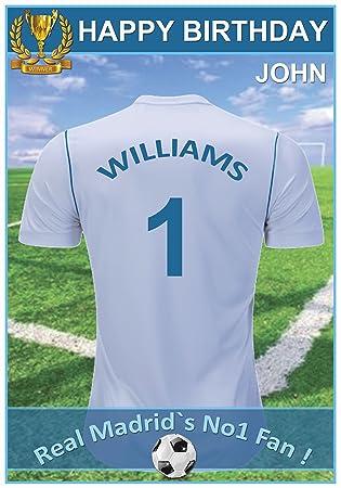 Personalised England Football Birthday Card