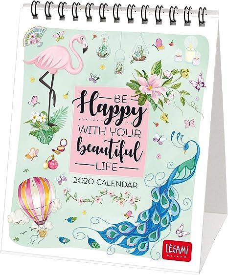 Legami - Calendario de mesa 2020 - Medidas 12 x 14 cm, color Happy ...