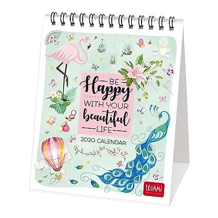 Legami 2020 - Calendario de mesa (12 x 14 cm), color HAPPY ...