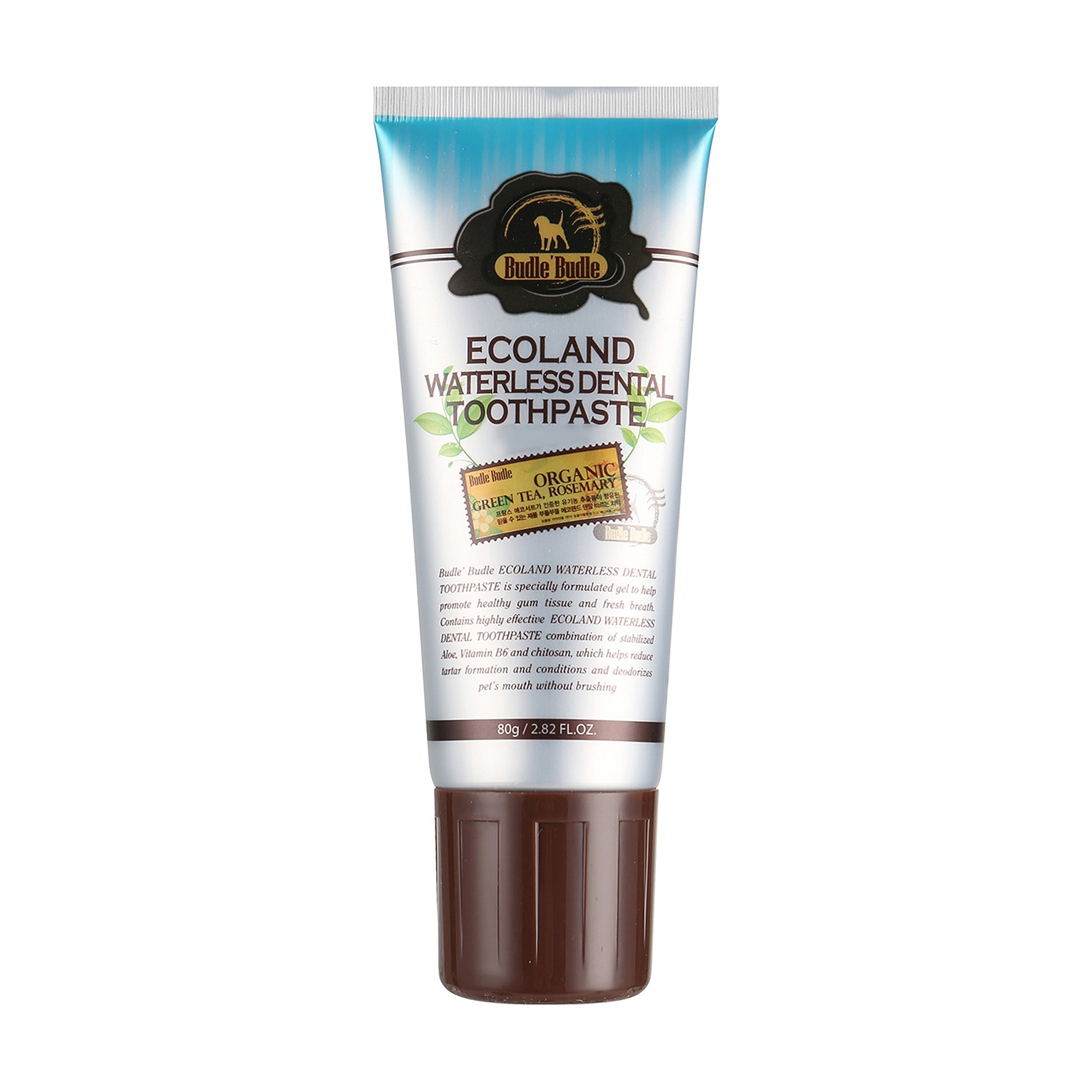 ECOLAND Dog Cat rubbing Organic Dental Toothpaste 2.82 Ounce