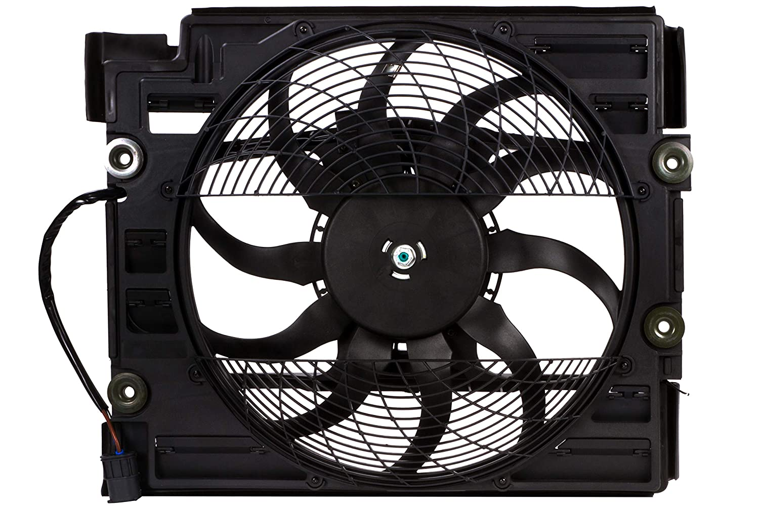 BOXI Engine Cooling Fan Assembly For BMW 5 SERIES E39 525i 528i 528iT 530i 540i M5 64546921395