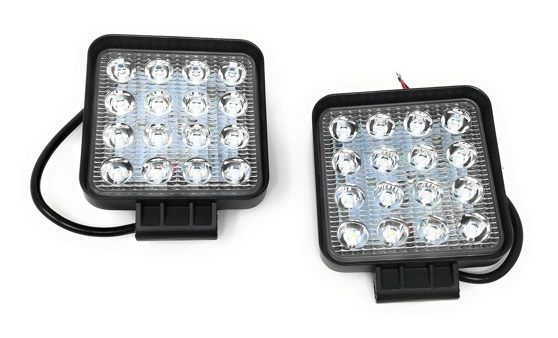 2 x Faro 48 W cuadrado foco LED de trabajo 16 LED de profundidad coche Barco Tempo di Saldi®