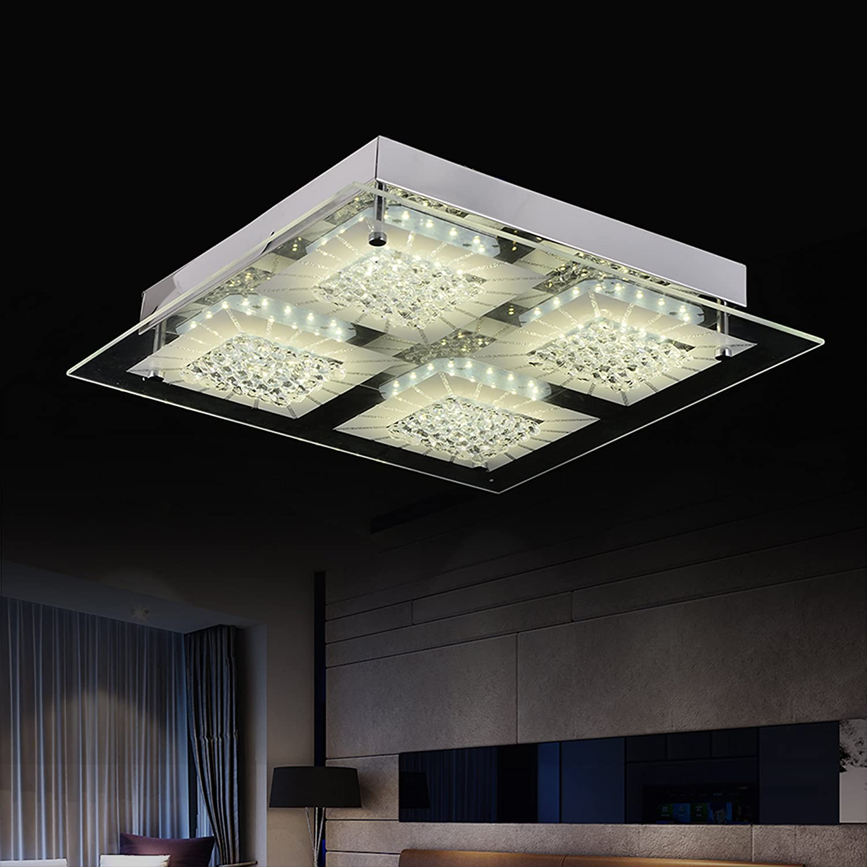 Audian led ceiling lights modern close to ceiling light fixtures crystal flush mount ceiling lights minimalist ceiling lamp chandelier lighting