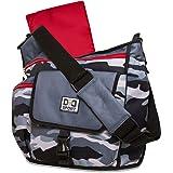 Diaper Dude Sport Bag by Chris Pegula - Grey Camo Messenger Diaper Bag