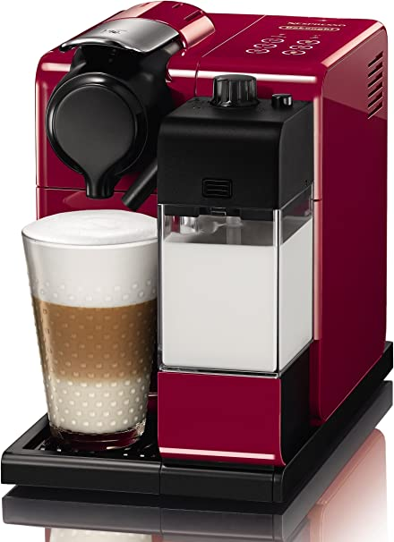Nespresso EN550.R Cafetera, 1400 W, 1 Cups, De plástico, Rojo: Amazon.es: Hogar