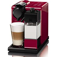 Nespresso DeLonghi Lattissima Touch EN 550R-Cafetera de cápsulas, 19 bares, apagado automático, depósito de leche, táctil, color Glam Red