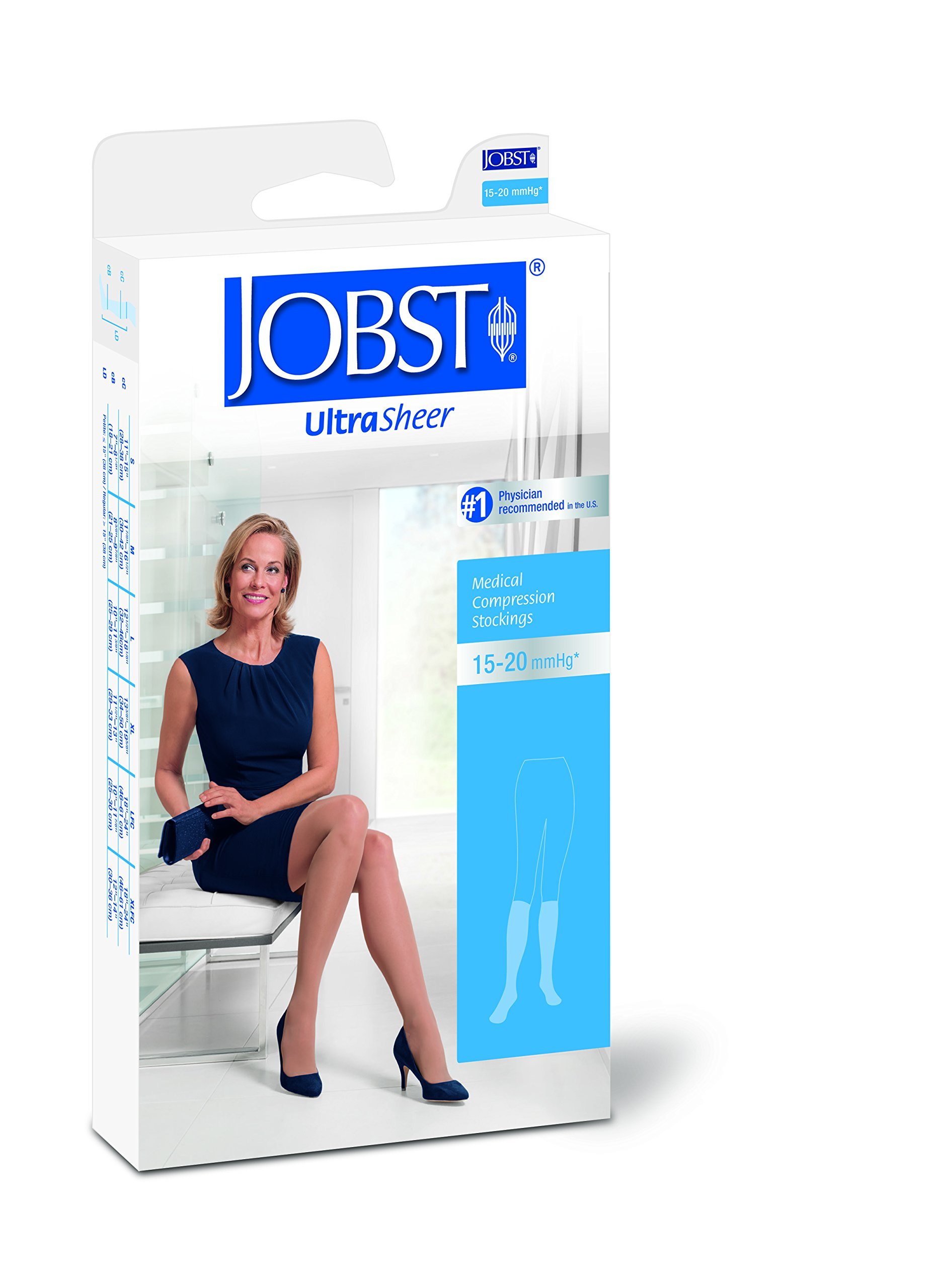 BSN Medical 119504 Jobst Compression Stocking, Knee High, Open Toe, 15-20 mmHG, Large, Natural by BSN Medical (Image #3)