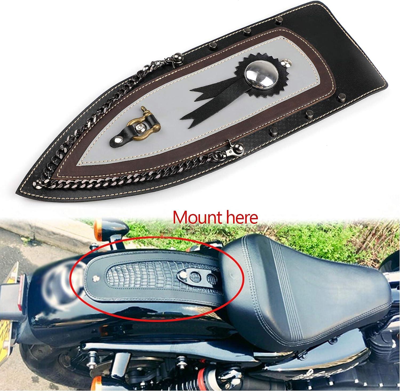 Artudatech Tie Leather Plain Rear Fender Bib For 04-16 Harley Sportster XL883 Solo Seat
