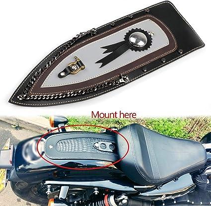 Artudatech Corbata de cuero liso guardabarros trasero para Harley ...