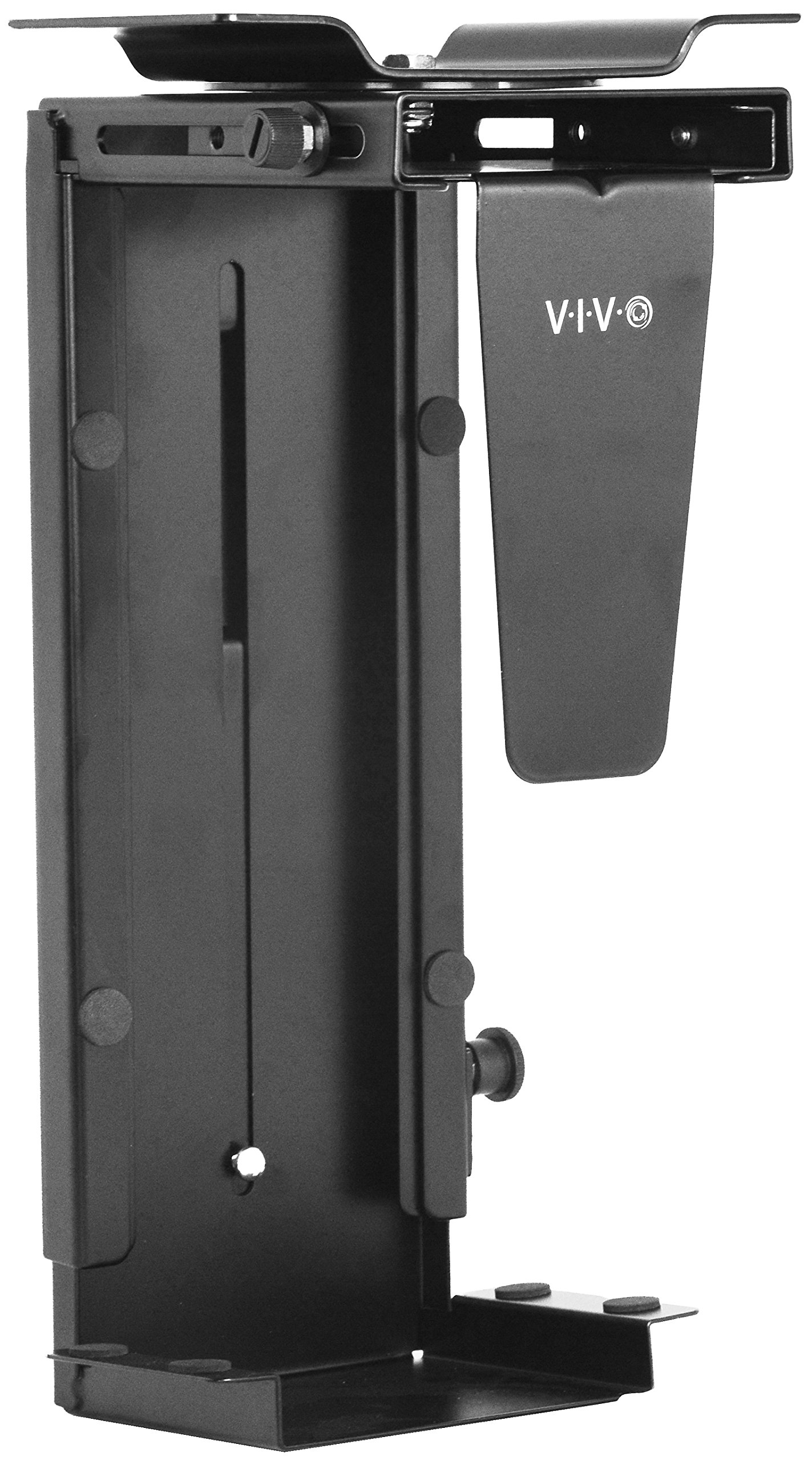 VIVO Adjustable Under Desk and Wall PC Mount   Computer Case Holder with 360-degree Swivel (MOUNT-PC01) by VIVO