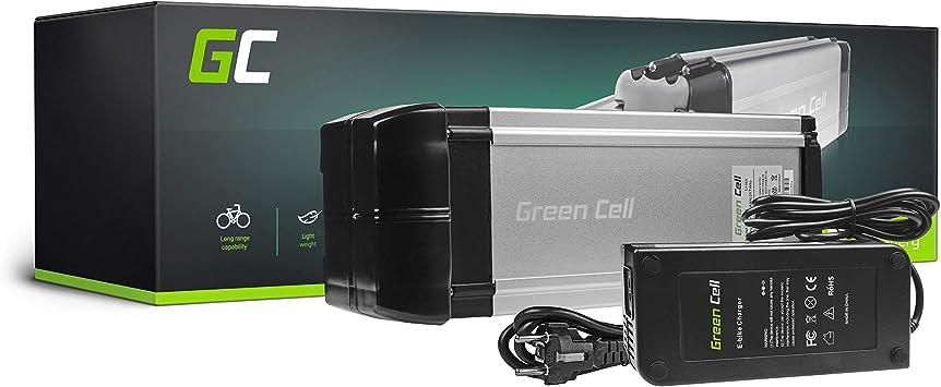 GC® Bateria Bicicleta Electrica 36V 8.8Ah con Celdas Originales Rear Rack Li-Ion Batería y Cargador: Amazon.es: Electrónica