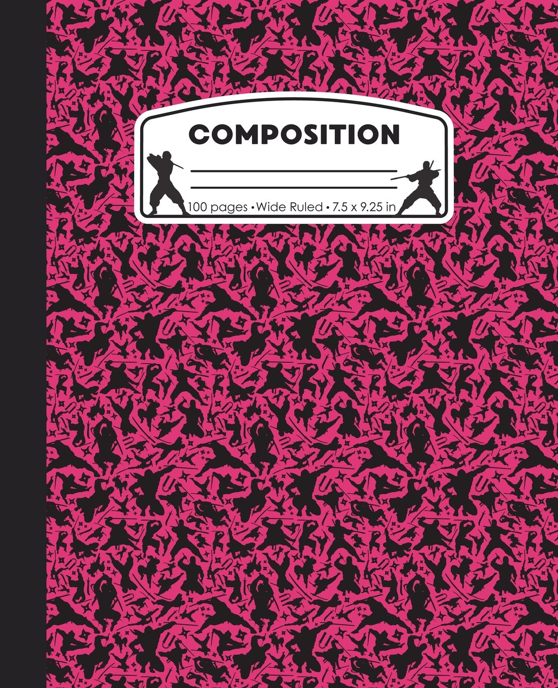 Composition: Ninja Pink Marble Composition Notebook. Ninjas Wide Ruled 7.5 x 9.25 in, 100 pages journal for girls boys, kids, elementary school students and teachers (Ninja Marble Composition Books) PDF