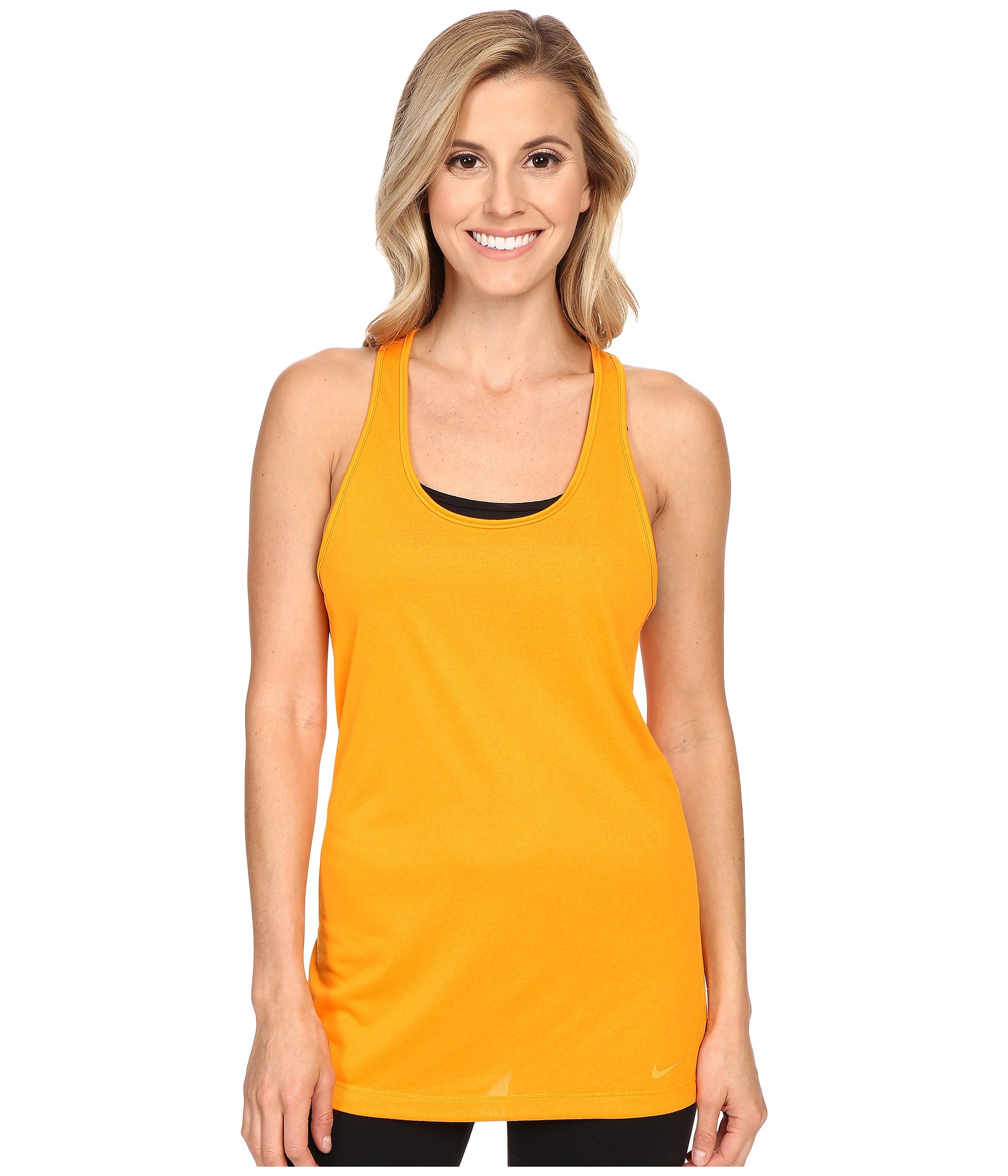 NIKE Women's Dry Balance Tank, Orange, X-Small