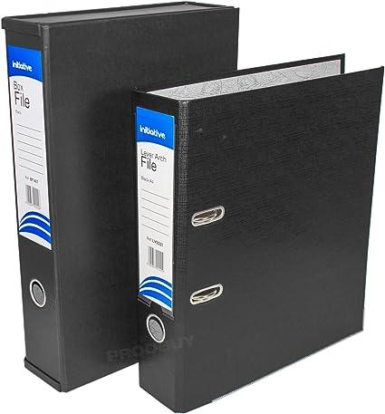 Home Office archivador de juego de archivos de almacenamiento de papel caja de archivo carpetas y archivadores de anillas (mecanismo de palanca, tamaño A4, color negro A4/Foolscap: Amazon.es: Oficina y papelería