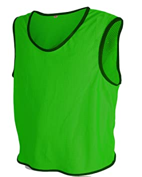 5c71e805d ALL THE GOOD 10 x Petos de Entrenamiento de fútbol Petos Pegatinas de  Camisa Petos Trikots Verde Talla:XL/2XL: Amazon.es: Deportes y aire libre