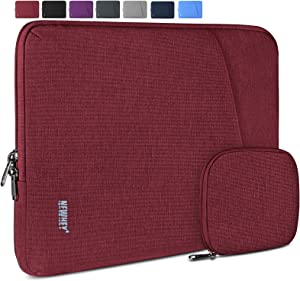 Laptop Sleeve Case 15-15.6 Inch Water-Resistant Business Computer Case Compatible with 15.6 Inch MacBook Air/Pro Notebook Protective Tablet Laptop Sleeve Bag for Men Women Burgundy