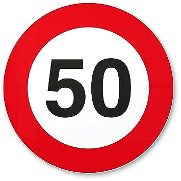 50 geburtstag 50. Geburtstag Geschenk, PVC Schild   Verkehrsschild (20 x 20 cm  50 geburtstag