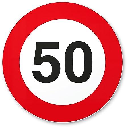 50 Geburtstag Geschenk Pvc Schild Verkehrsschild 20 X 20 Cm