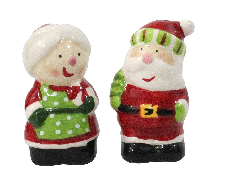 LINX Ceramic Salt & Pepper Shakers - Mr. & Mrs. Claus 2054