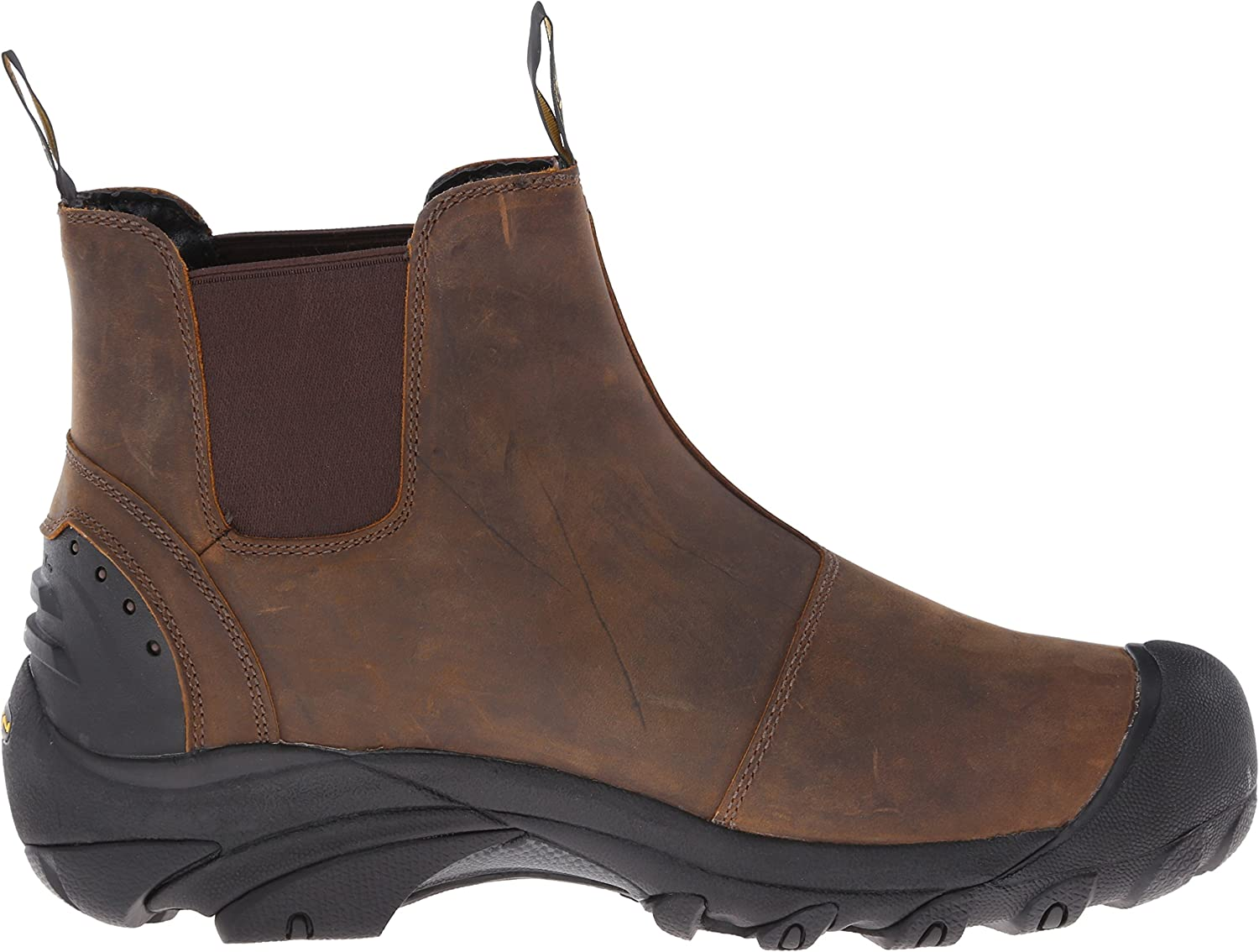 Keen Detroit Slip On Work Boot 9 EE Wide Cascade Brown