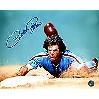 $25 » Pete Rose Autographed 8x10 Photo Philadelphia Phillies Head First Slide Dive PR Holo Stock #178360