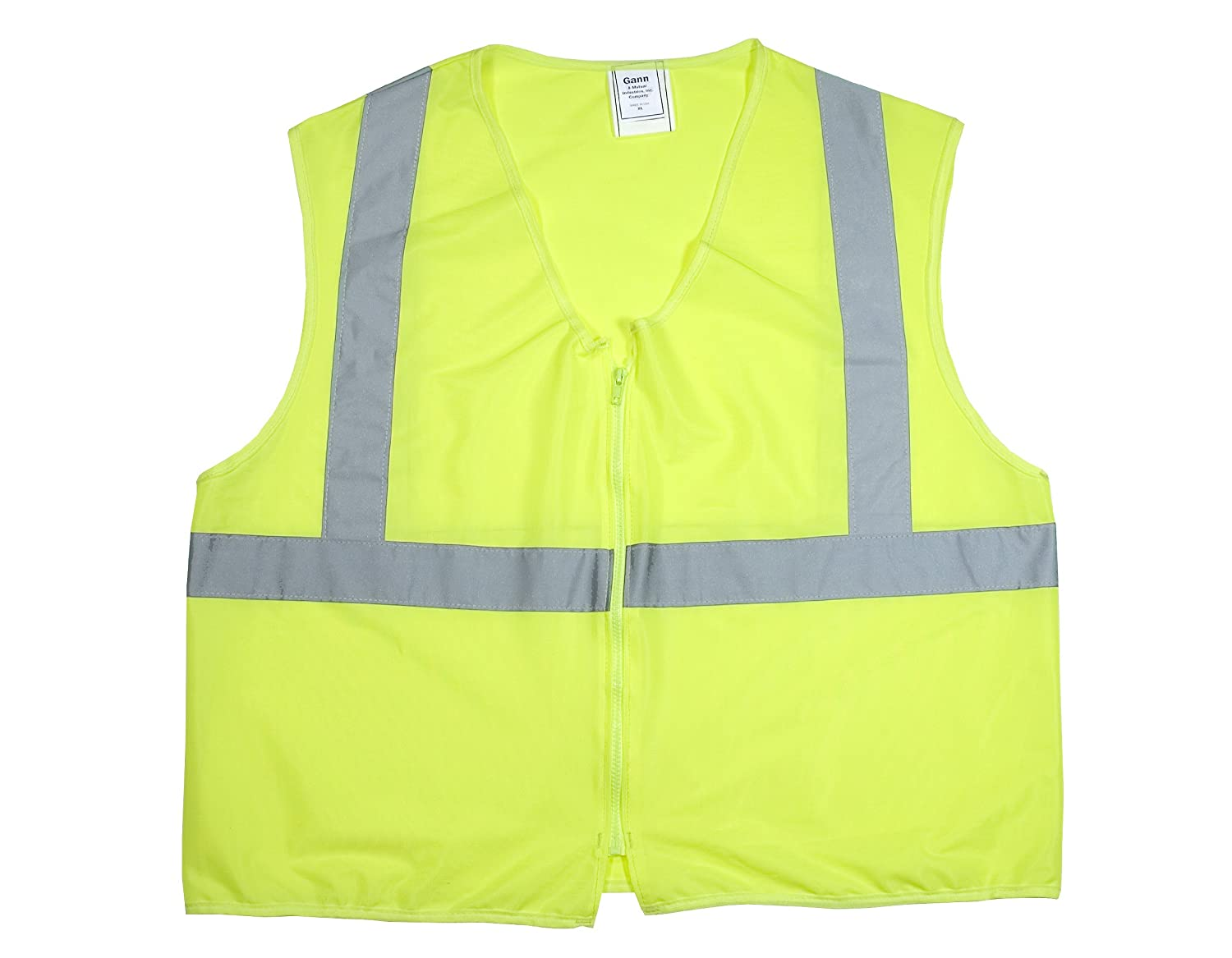 cee8d9959141 Mutual 84900 High Visibility Polyester ANSI Class 2 Non Durable Flame  Retardant Solid Safety Vest with 2