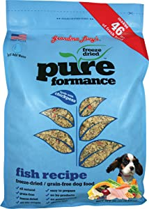 Grandma Lucy's PUREformance Dog Food, Grain Free and Freeze-Dried - Fish, 10 Pound Bag