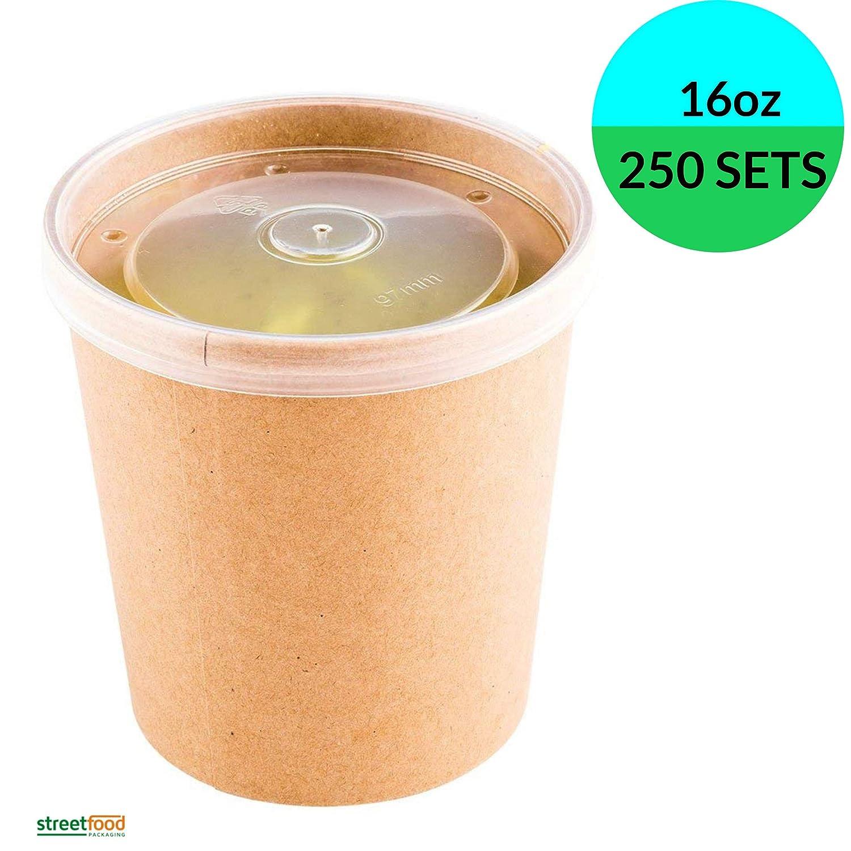 Recipiente desechable para sopa, Envase carton kraft para ...