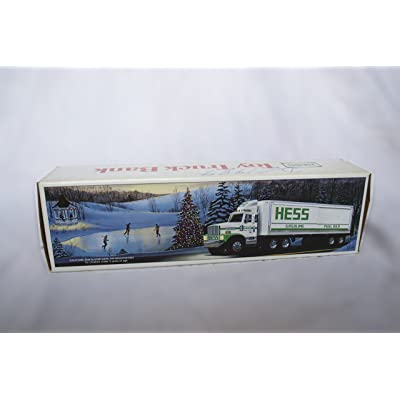 1987 Hess Toy Truck Bank with Barrels: Toys & Games