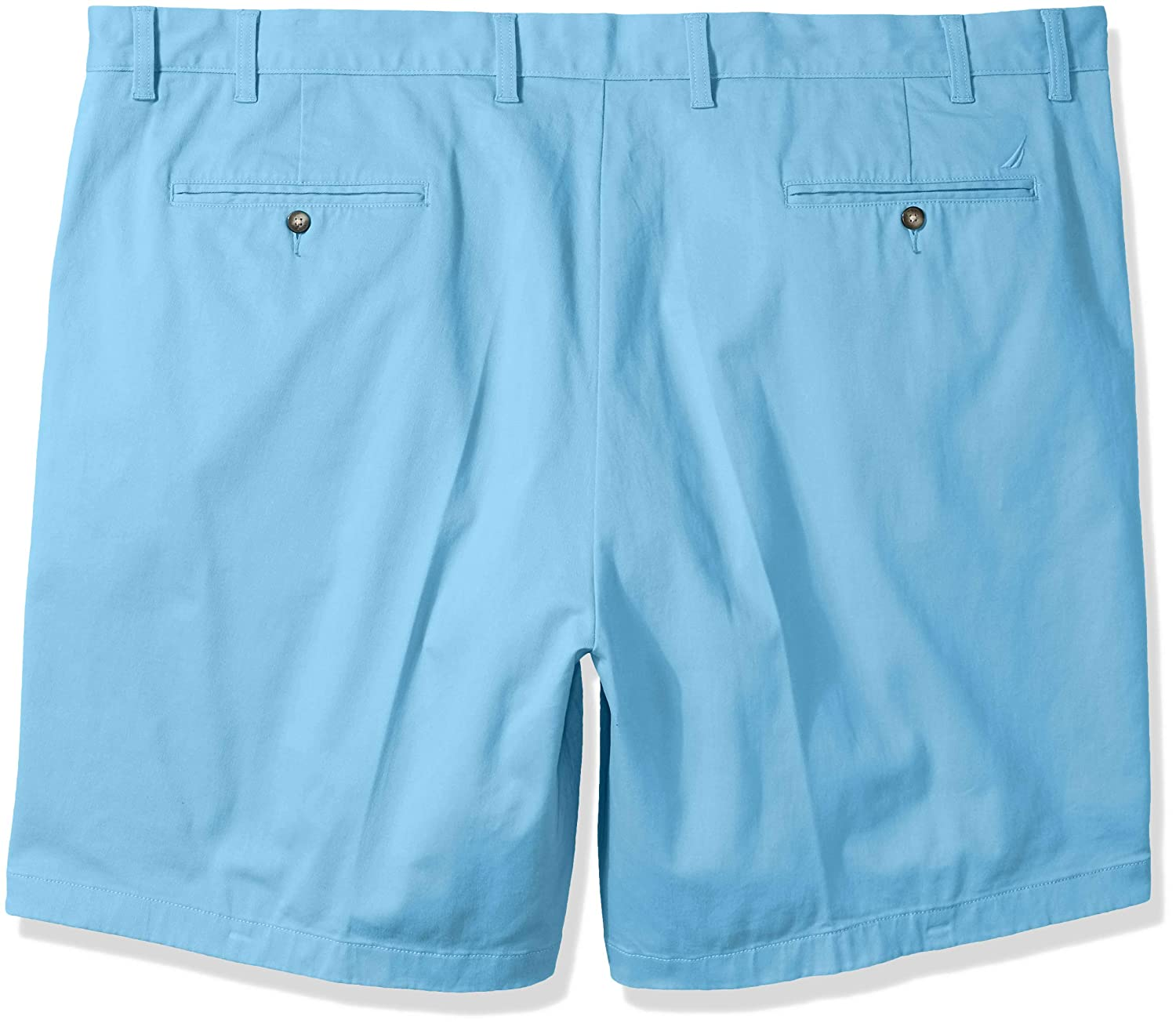 Nautica Mens Classic Fit Flat Front Stretch Chino Deck Short Casual Shorts