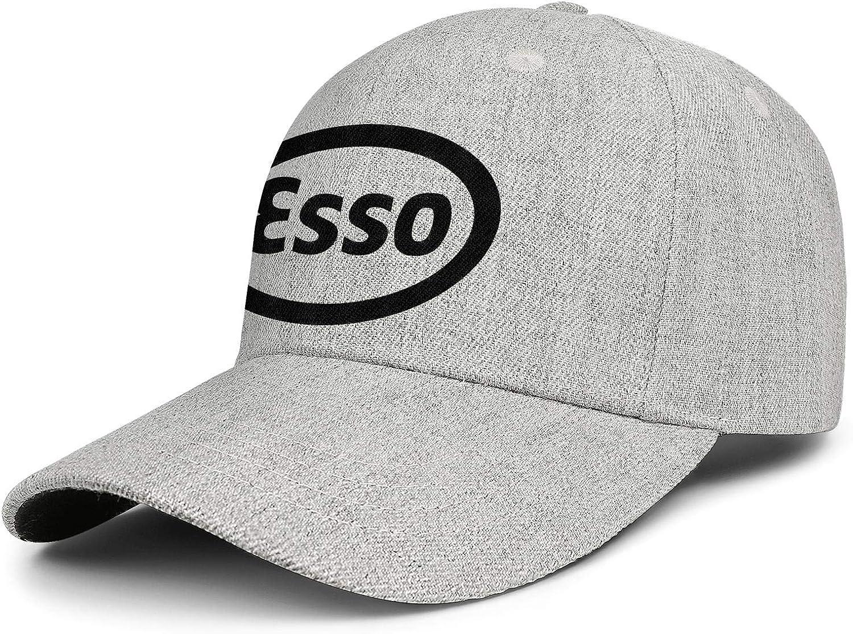 NAKHFBVi Unisex Low Baseball Cap Esso-Logo-Sign-Symbol Profile Professional Cotton Trucker Cap