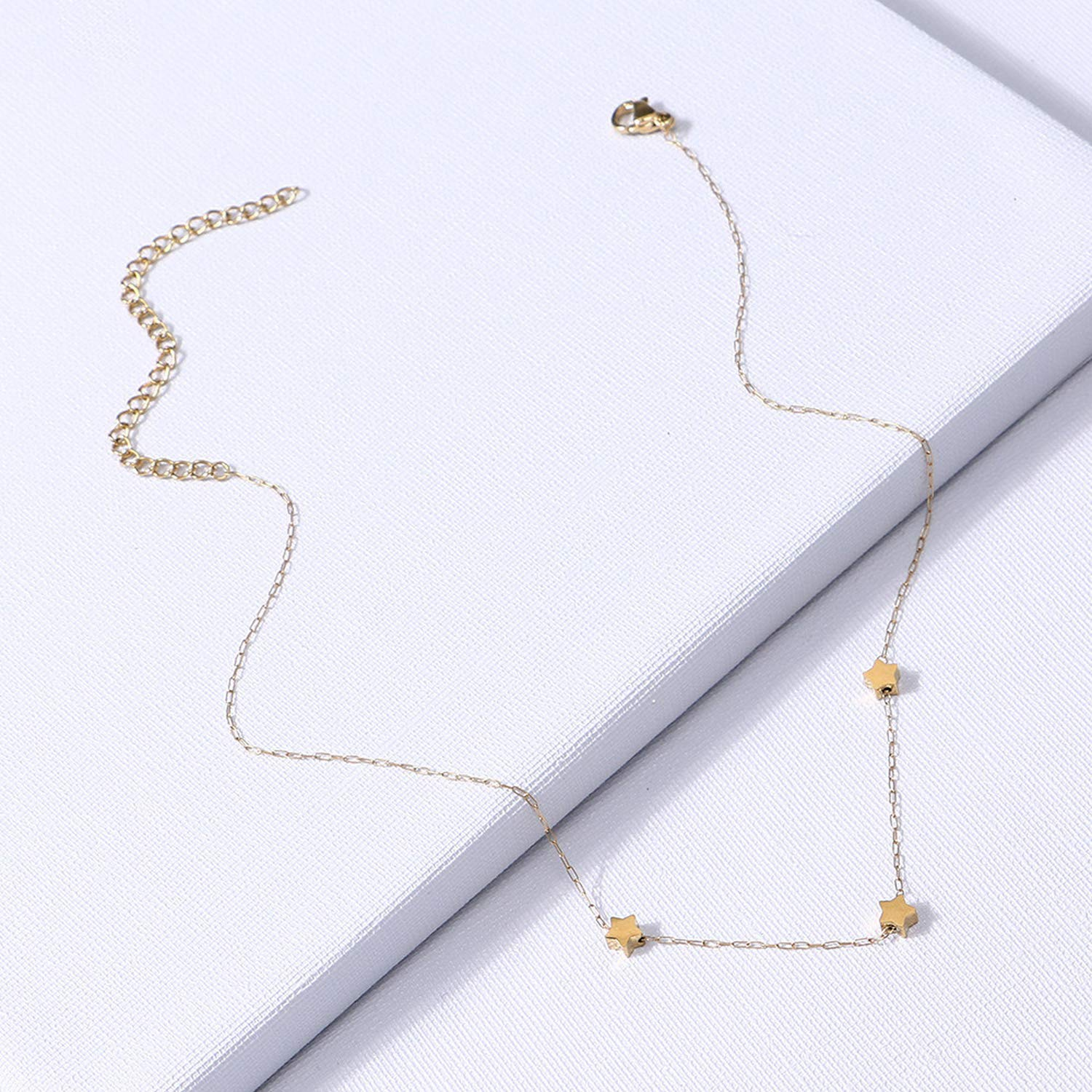 Minusone Stainless Steel Chain Necklace Women Fashion Jewelry Golden Star Pendant Short Necklaces Gift