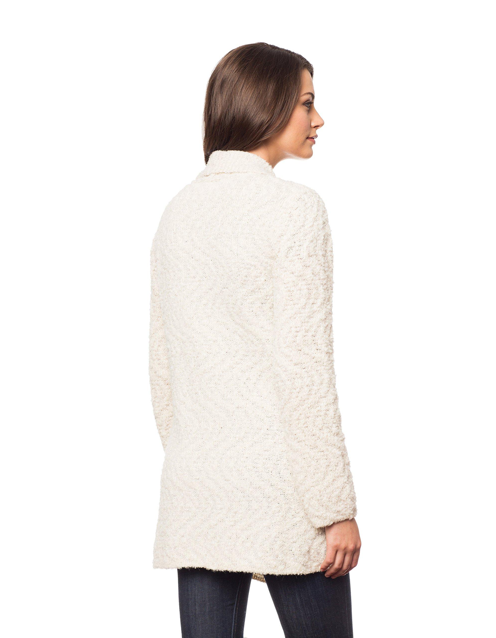 Invisible World Womens Alpaca/Pima Cotton Blend Womens Sweater Coat Cardigan Swirl - Medium by Invisible World (Image #5)