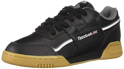 081b8d8c7 Amazon.com   Reebok Workout Plus Mu Mens Black Leather Low Top Lace ...
