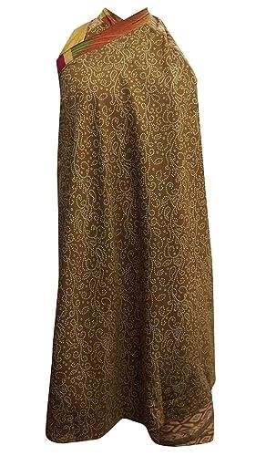 Larga más el tamaño de seda Jardín Mágico Wrap cabestro falda del vestido del tubo de la vendimia sa...