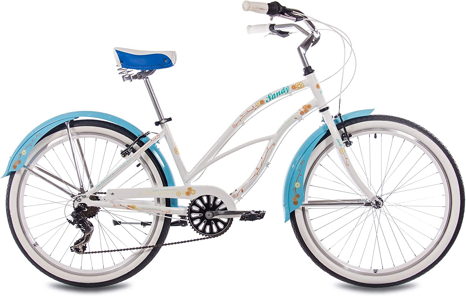 66,04 cm aluminio Beach Cruiser para mujer CHRISSON SANDY con 6 ...