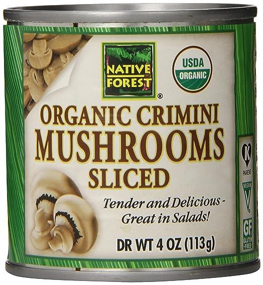 amazon com native forest organic sliced crimini mushrooms 4 ounce rh amazon com