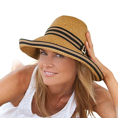 5e3c91fb47b Image Unavailable. Image not available for. Color  Ladies Upturn Sun Hat    Beach ...
