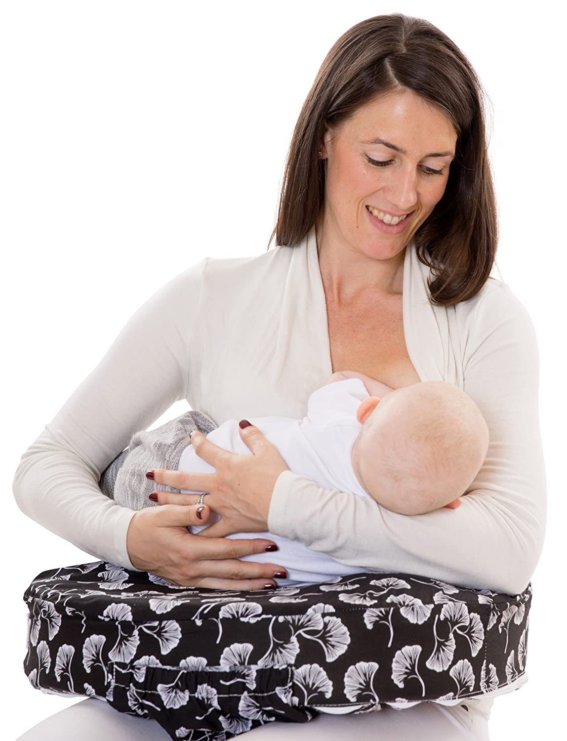 My Brest Friend 100/% Cotton Nursing Pillow Original Slipcover Flowing Fans Black /& White Machine Washable Breastfeeding Cushion Cover pillow not included