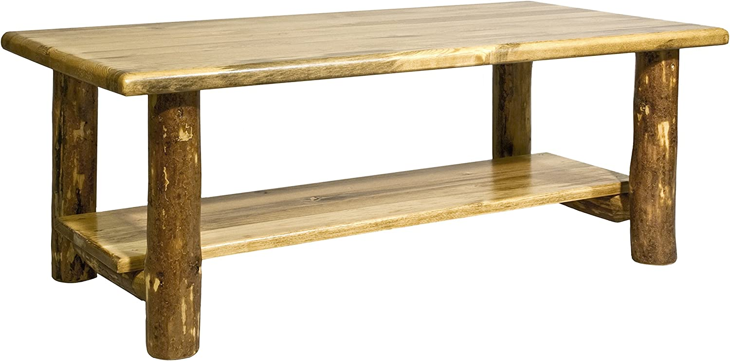 Montana Woodworks Collection Glacier Country Log Coffee Table, Stained and Lacquered Finish