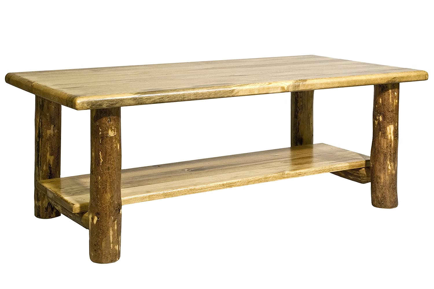Amazon.com: Montana Woodworks Collection Glacier Country Log Coffee Table,  Stained And Lacquered Finish: Kitchen U0026 Dining