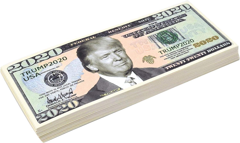 Re-Election Presidential Dollar Bill Realistic - 10 100 Pack DR DINGUS Trump Dollar Bill 2020 Limited Edition Novelty Dollar Bill 100 Pack 50 Support Our President
