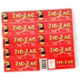 ZIG-ZAG Red Cut Corners rolling paper - 10 booklets x 60 = 600 papers