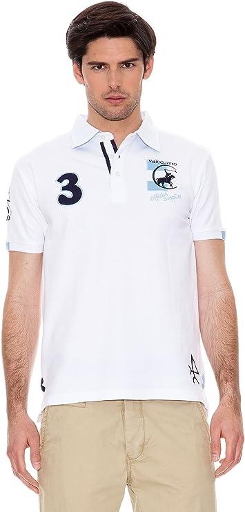 Valecuatro Polo Logo Argentina Caballo Blanco L: Amazon.es ...