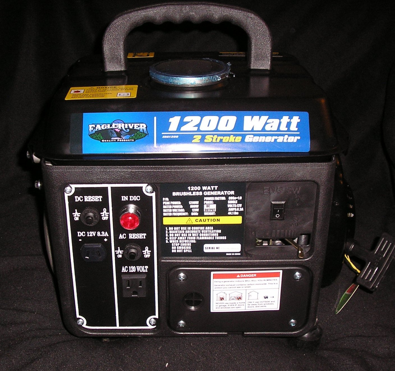 1200 watt generator, 120V, Eagle river: Amazon co uk: Garden