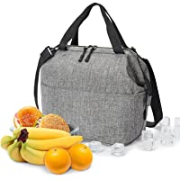 Lunch Bag Box Insulated Lunch Tote Bag Cooler with YKK Zipper, Extra Pocket Shoulder Strap For Meal Prep Men Women…