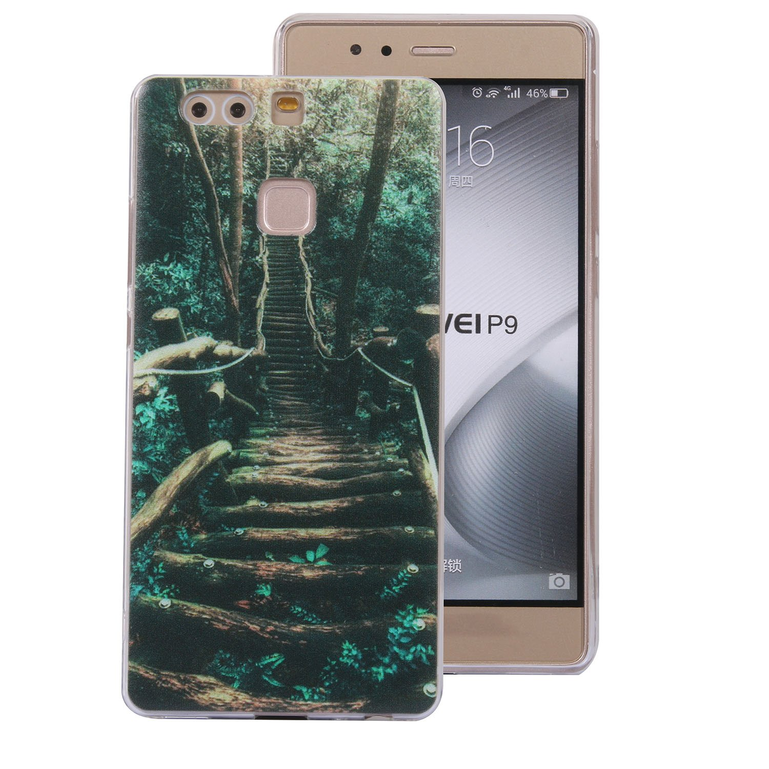 Huawei P9 Handyhü lle, Huawei P9 Silikon Hü lle, Cozy Hut 3D Handyhü lle Muster Case Cover Fü r Huawei P9 Liquid Crystal Ultra Dü nn Crystal Clear Transparent Handyhü lle Soft Cover Premium Anti-Scratch TPU Durchsichtige Schut