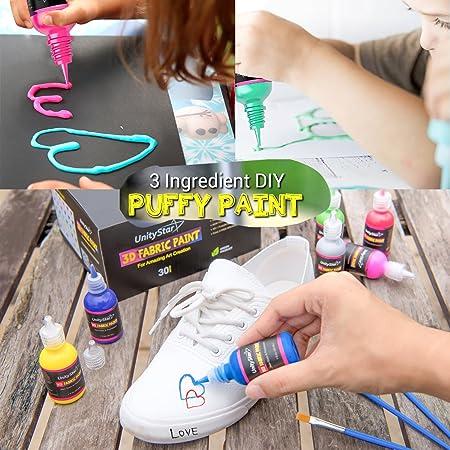3d pintura para tela, permanente rotuladores de 30 colores juego estilo colores vibrantes, textil pinturas Dye para camisetas tejidos lienzo cristal madera ...