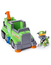 PAW Patrol Ultimate Rescue — Rocky's Ultimate Rescue Recycling Truck with Moving Crane and Flip-open Ramp, for Ages 3 and Up